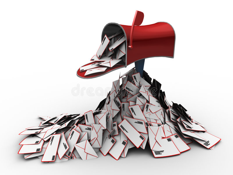 Inbox cheio do correio