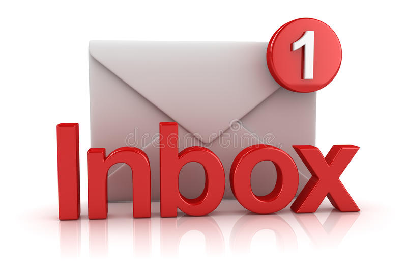 Inbox Concept with Envelope royalty free illustration