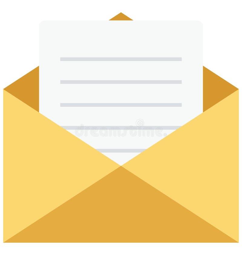 inbox, e-mail, Geïsoleerde Vectorpictogrammen die gemakkelijk kunnen worden gewijzigd of uitgeven stock illustratie