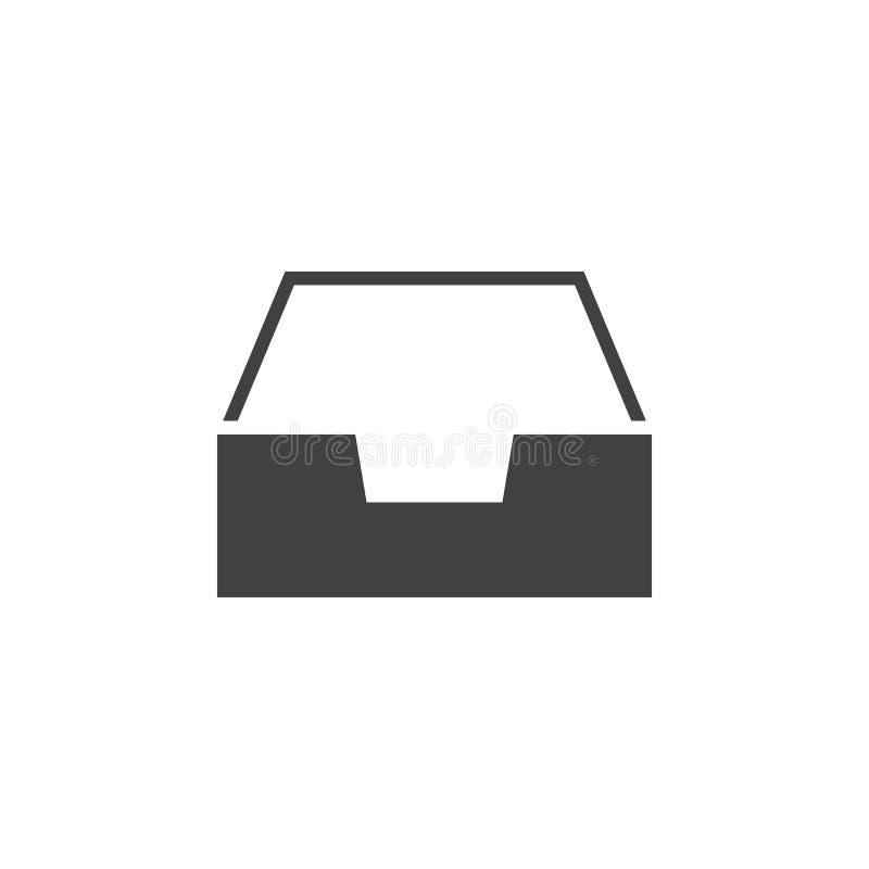 Download Inbox-Ikone, Packen Feste Logoillustration, Piktogramm Isolat Ein Stock Abbildung - Illustration von fest, zeichen: 90234716