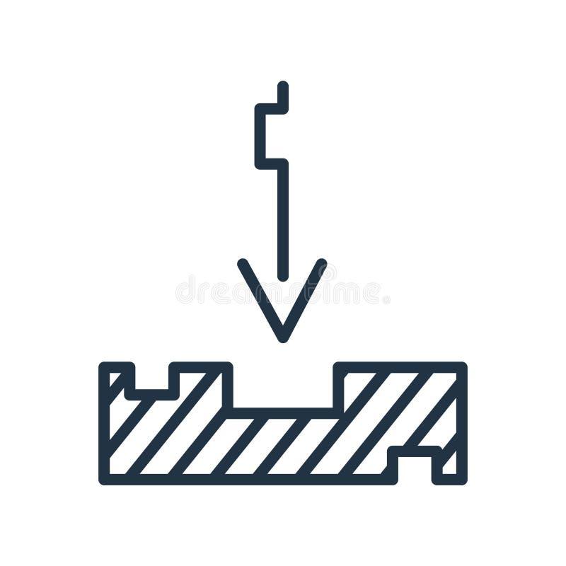 Inbox-Ikonenvektor lokalisiert auf weißem Hintergrund, Inbox-Zeichen, Linie Symbol oder linearem Elemententwurf in der Entwurfsar lizenzfreie abbildung