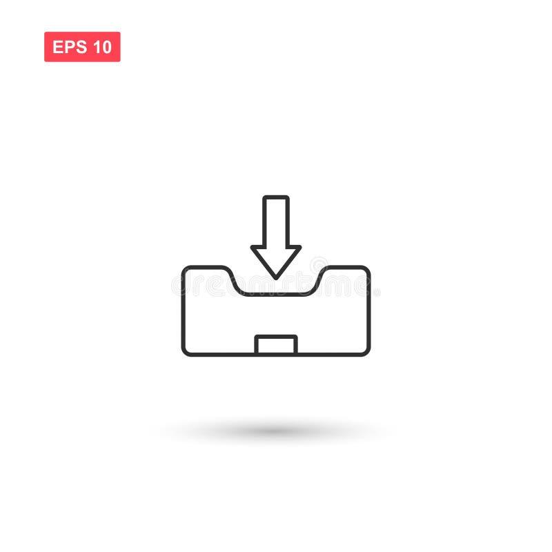 Inbox-Ikonenvektor lokalisierte 10 lizenzfreie abbildung