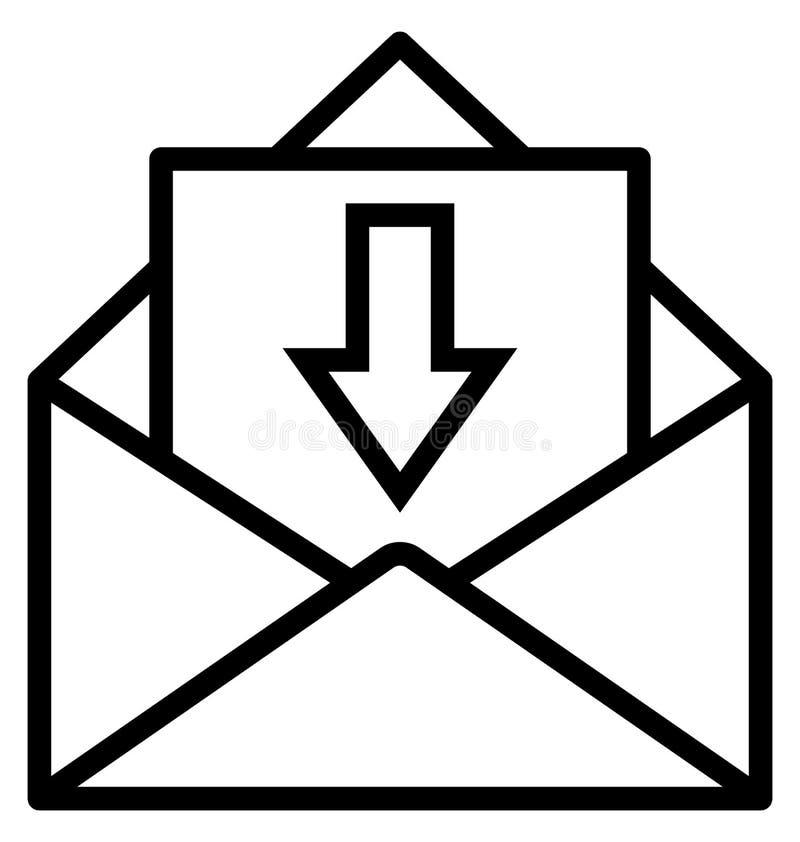 Inbox isoleerde Vectorpictogram dat gemakkelijk kan worden gewijzigd of worden uitgegeven stock illustratie
