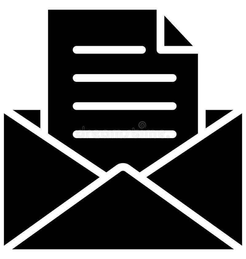 Inbox Odizolowywał Wektorową ikonę Która może łatwo Redaguje lub Modyfikująca ilustracja wektor