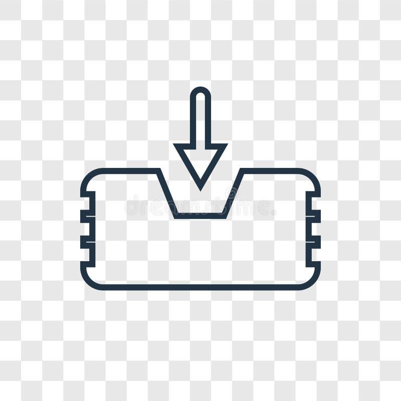 Inbox pojęcia wektorowa liniowa ikona odizolowywająca na przejrzystym backgro ilustracji