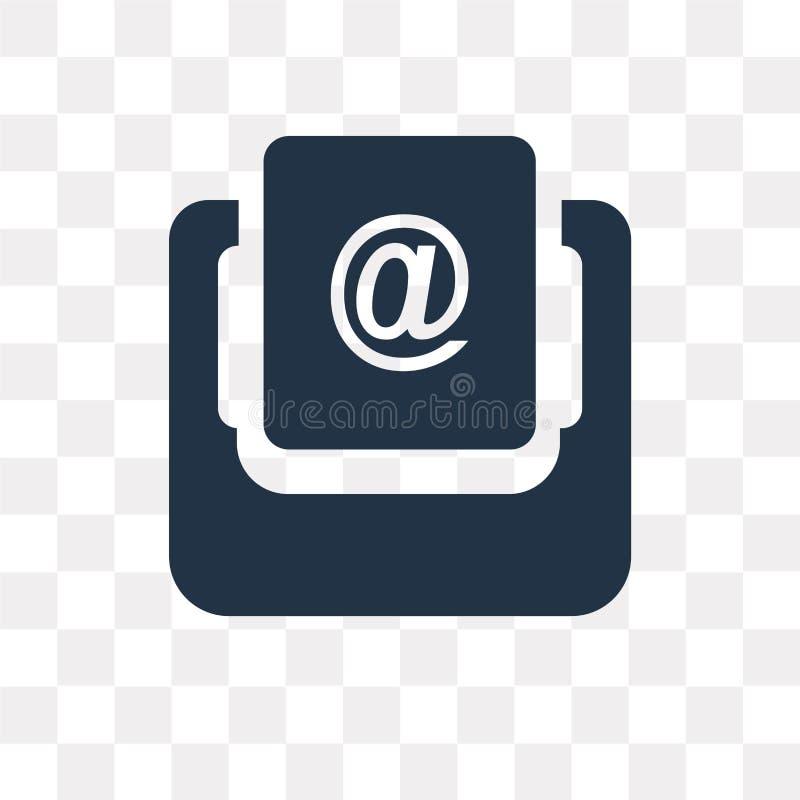 Inbox vectordiepictogram op transparante achtergrond, Inbox-tra wordt geïsoleerd royalty-vrije illustratie