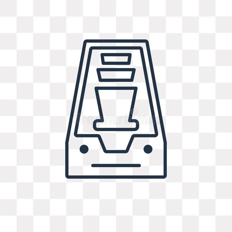 Inbox-Vektorikone lokalisiert auf transparentem Hintergrund, lineares Inb lizenzfreie abbildung