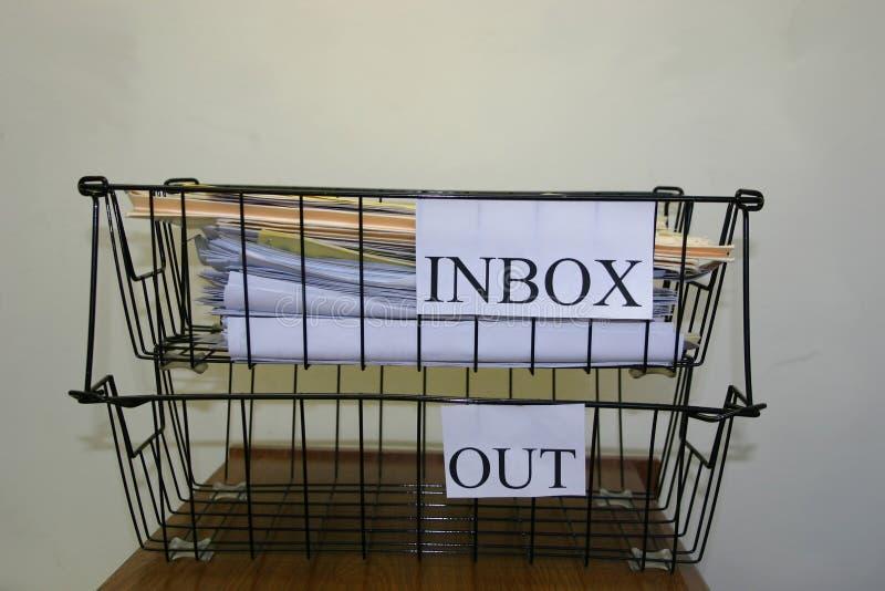 inboxoutbox arkivbilder