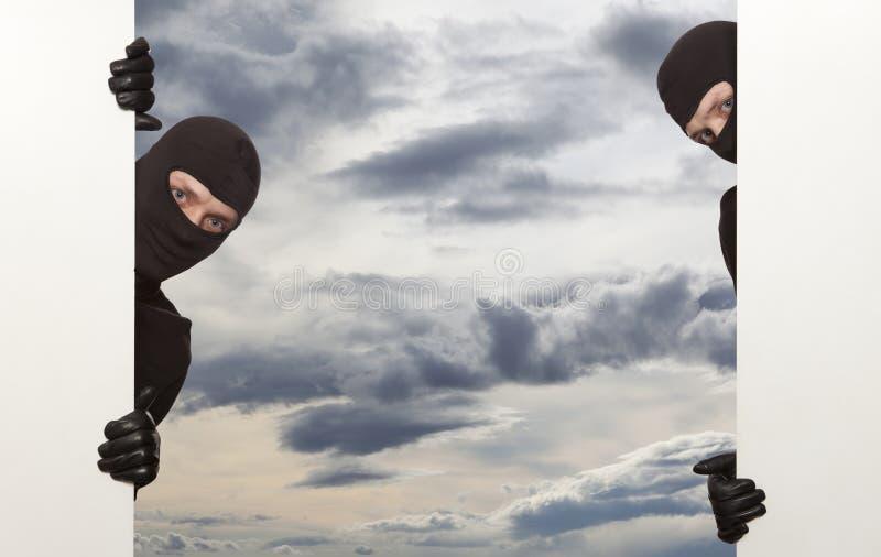 Inbreker, Ninja royalty-vrije stock afbeelding