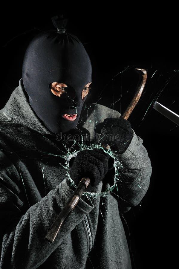 inbrottstjuv fotografering för bildbyråer