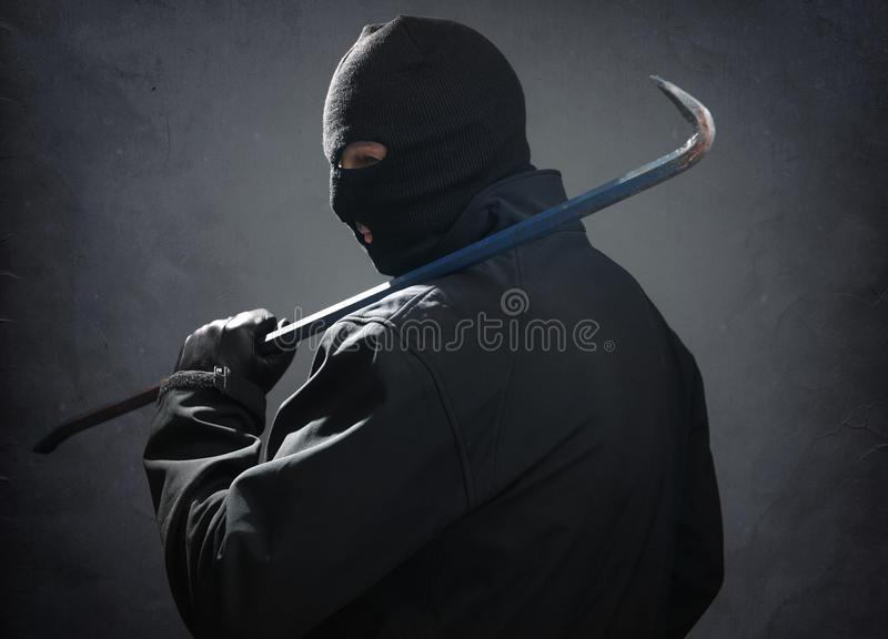 inbrottstjuv arkivfoto