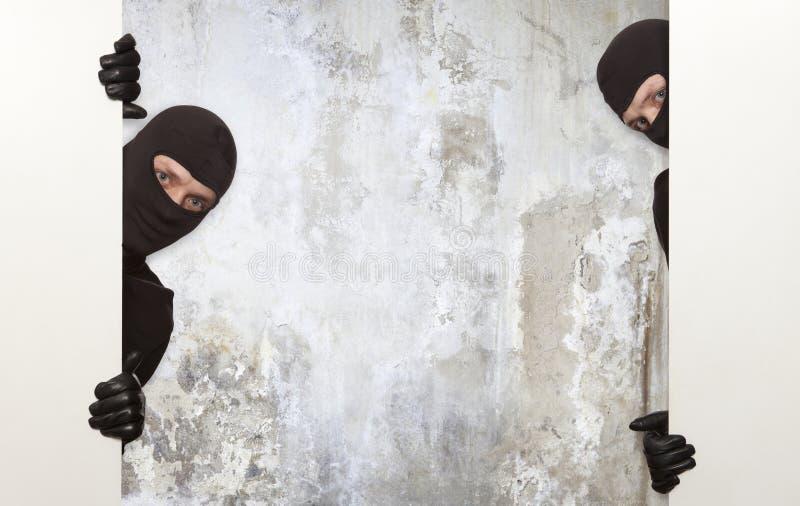 Inbrottstjuv Ninja arkivfoto