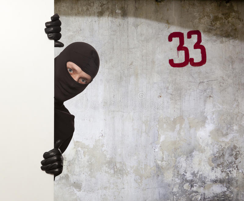 Inbrottstjuv Ninja fotografering för bildbyråer