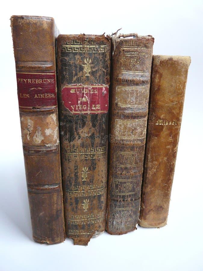 inbundna böcker piskar gammalt arkivfoto