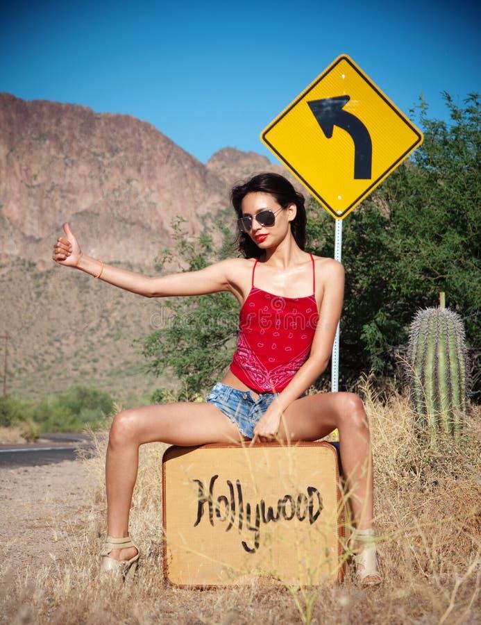 inbundna hollywood royaltyfria bilder