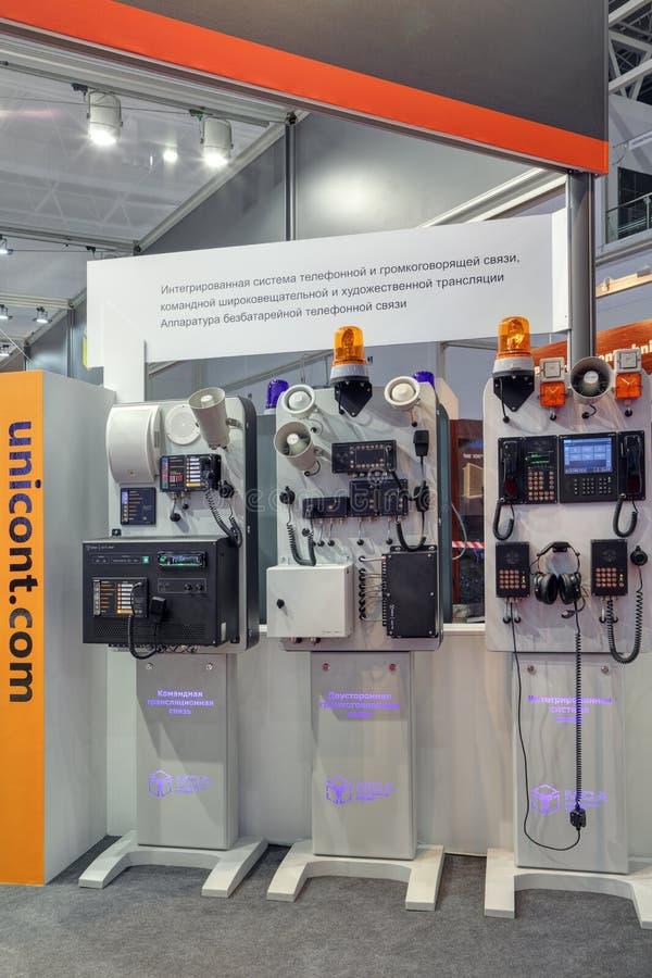 Inbyggda batteri-fria telefon- och speakerphonesystem fotografering för bildbyråer