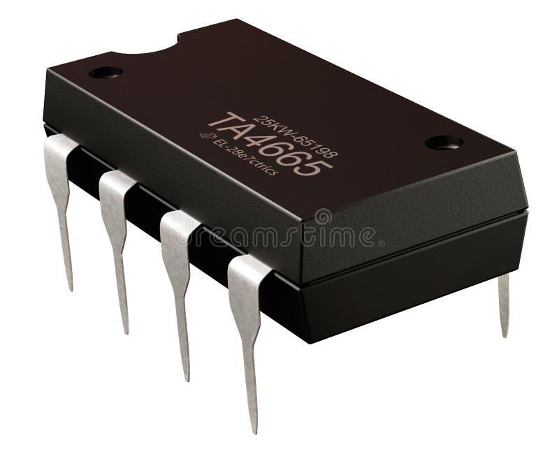 Inbyggt - strömkrets eller mikronya informationstekniker om chip och royaltyfria foton