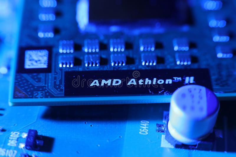 Inbyggt - strömkrets, mikroprocessorer royaltyfria bilder