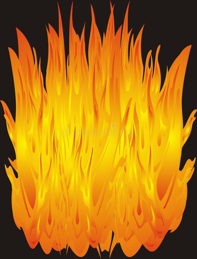 Incêndio abstrato - vetor ilustração stock