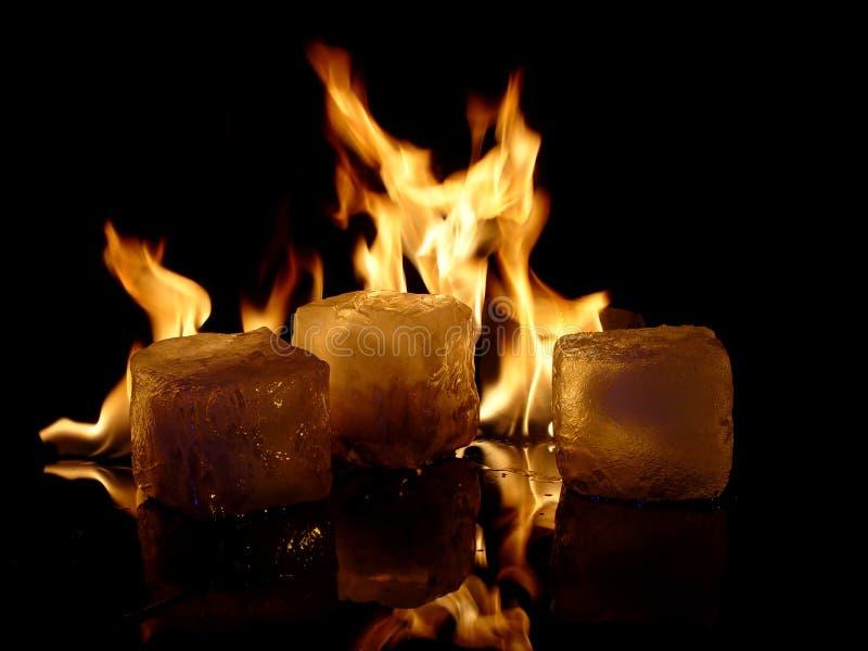 Incêndio & gelo foto de stock