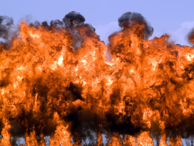 Incêndio da explosão fotografia de stock royalty free