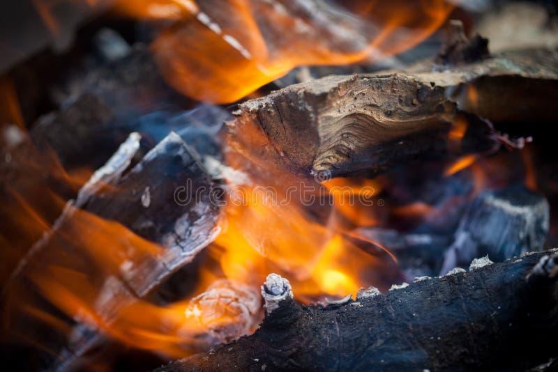 Incêndio de ardência fotografia de stock