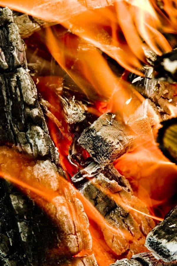 Incêndio de madeira fotos de stock