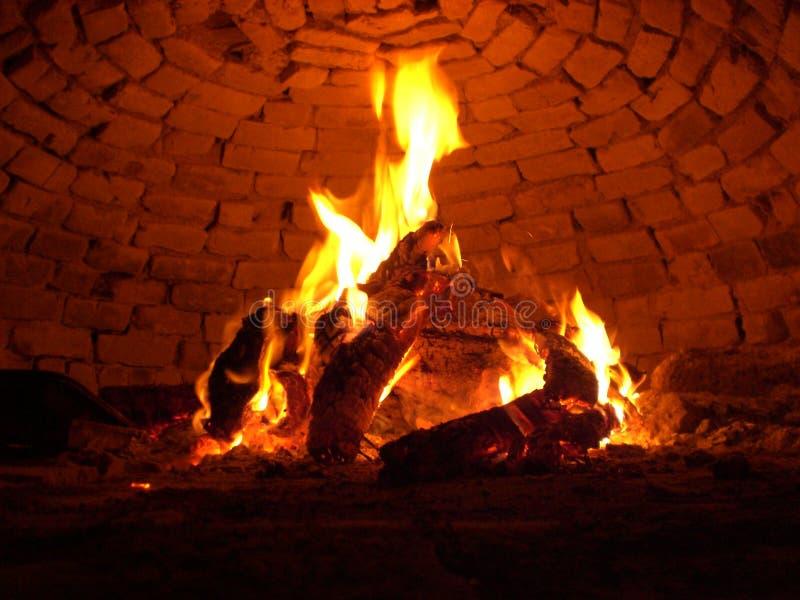 Incêndio de madeira imagens de stock