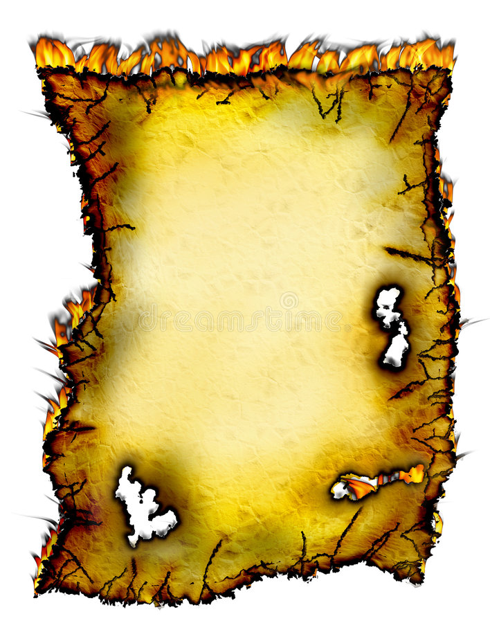 Incêndio de papel! ilustração royalty free