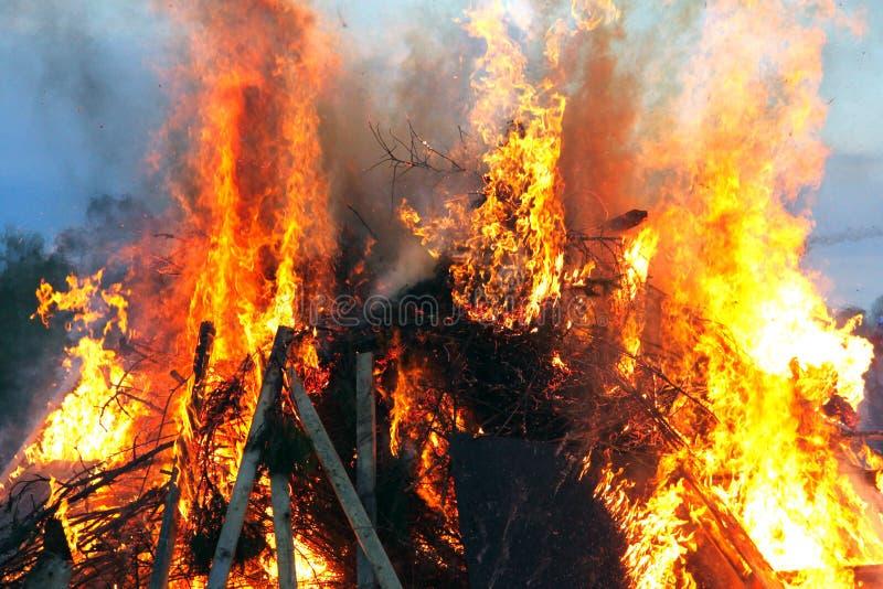 Incêndio de Walpurgis fotografia de stock royalty free