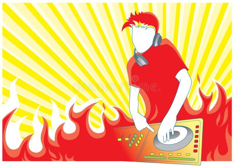 Incêndio DJ ilustração do vetor