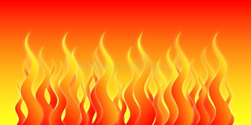 Incêndio do inferno ilustração stock