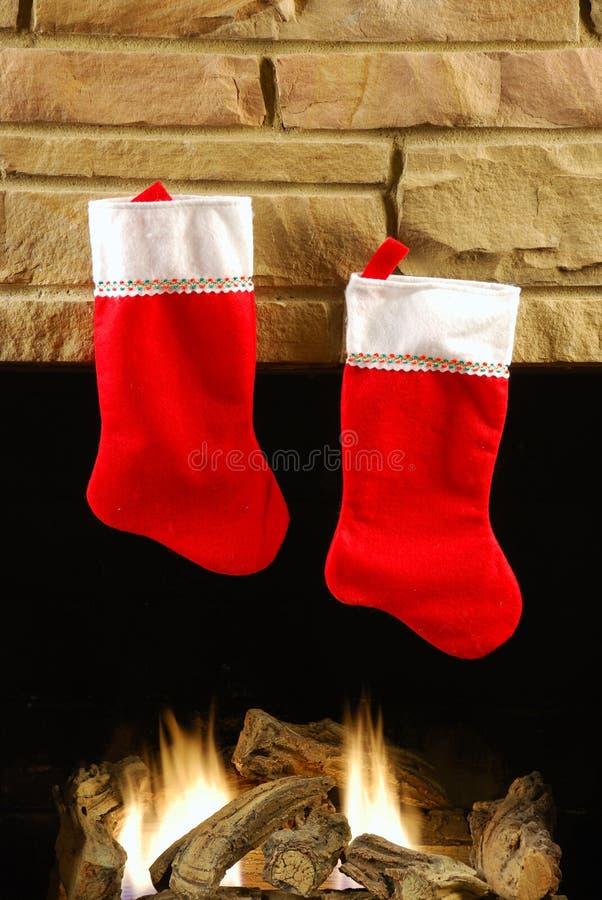 Incêndio do Natal imagem de stock