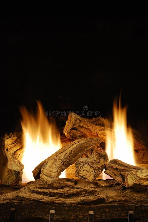 Incêndio do Natal foto de stock royalty free