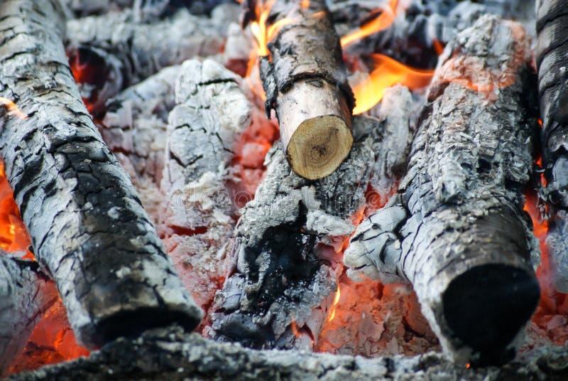 Incêndio e cinzas imagem de stock royalty free