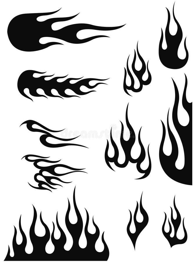 Incêndio e flama ilustração stock