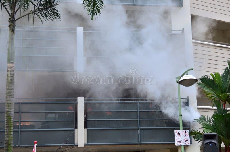Incêndio e fumo fotografia de stock royalty free