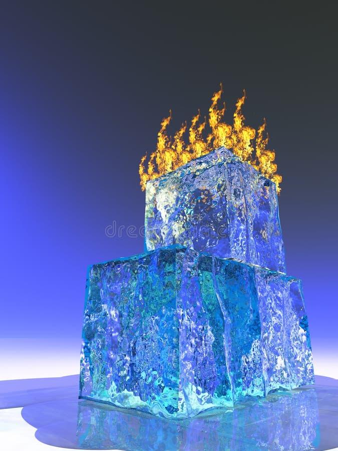 Incêndio e gelo ilustração stock