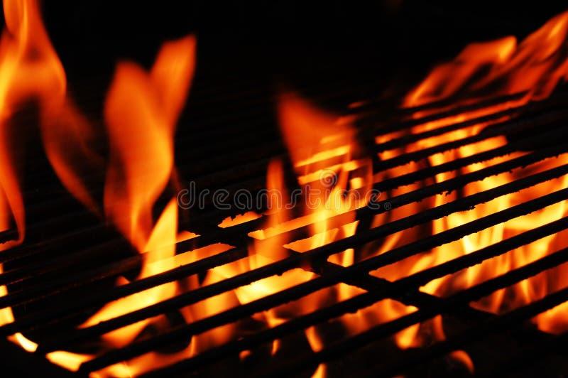 Incêndio e grade fotografia de stock