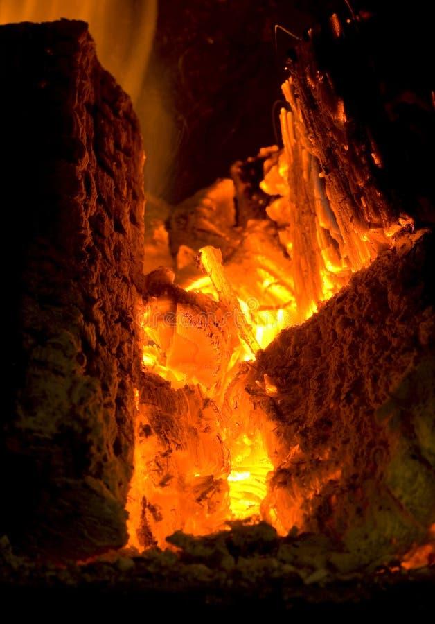 incêndio e madeiras foto de stock royalty free