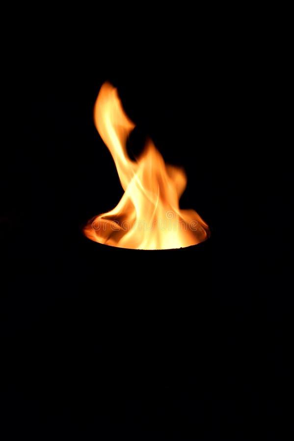 Incêndio em um furo fotos de stock royalty free