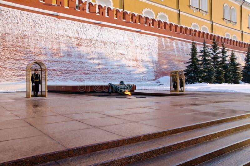 Incêndio eterno. Moscovo Kremlin 4 imagens de stock