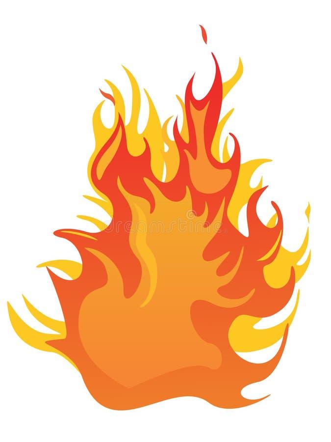 Incêndio - flamas ilustração do vetor