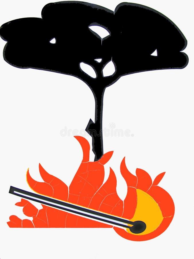 Incêndio florestal ilustração royalty free