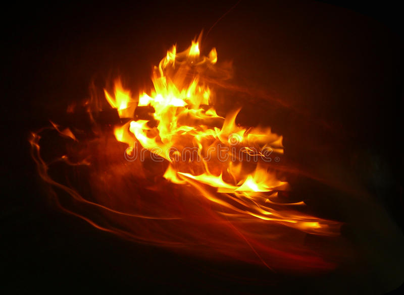 Download Incêndio na noite foto de stock. Imagem de barbecue, eternity - 12800138