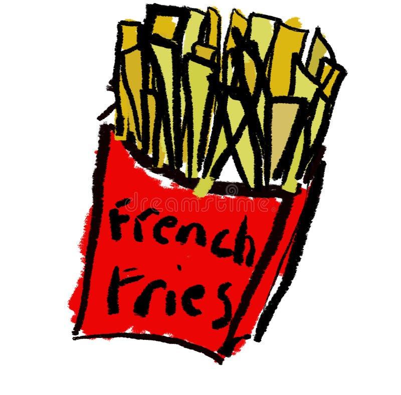 Incêndios franceses ilustração stock