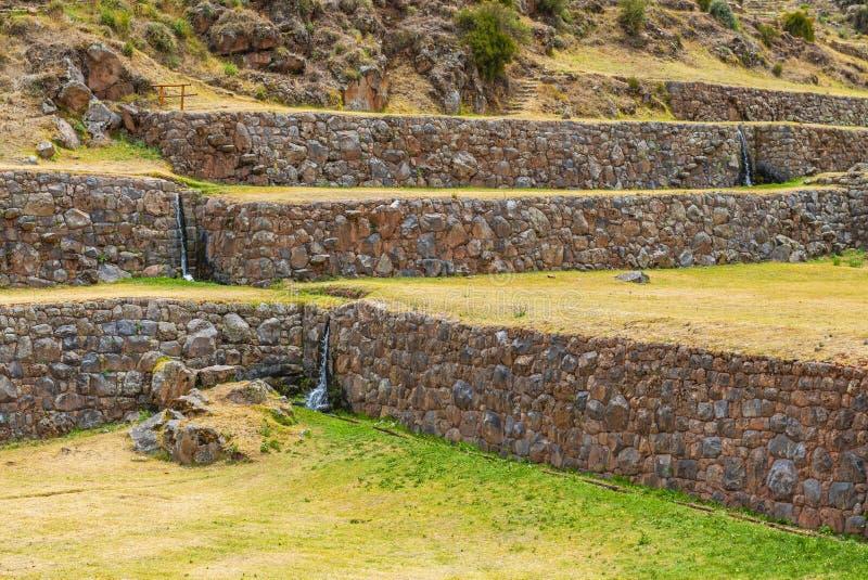 Inca Agriculture Terraces Cusco, Peru royaltyfri bild