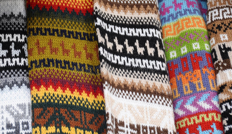 Inca Blankets stock photography