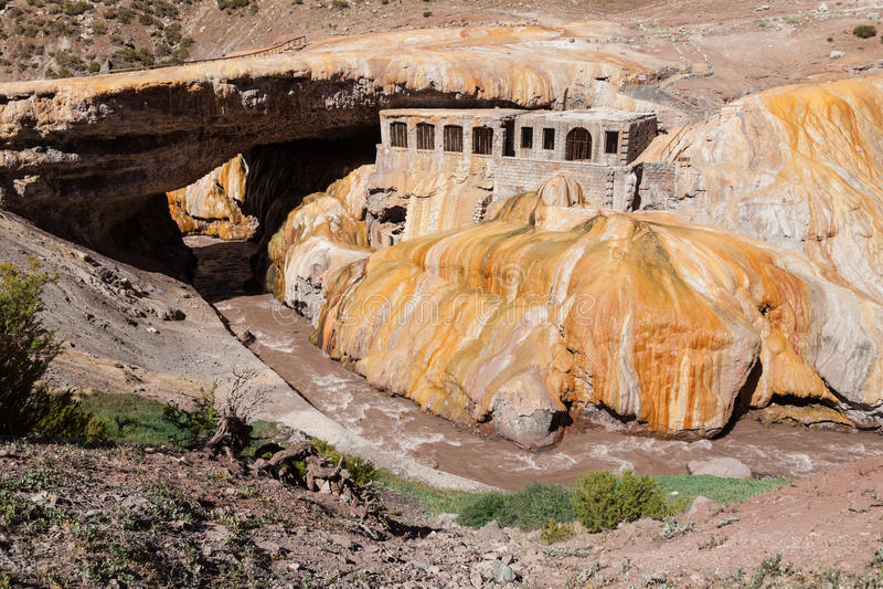 Inca Bridge Andes royalty-vrije stock foto's