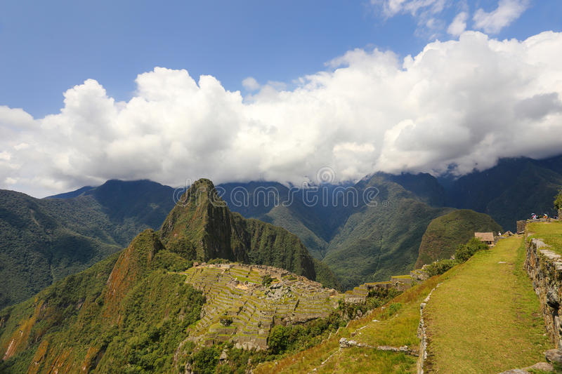 Inca citadel Machu Picchu in Peru. In 2007 Machu Picchu was voted one of the New Seven Wonders of the World royalty free stock image